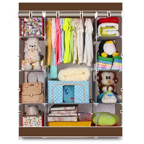 DSA Trade Shop 65 Portable Closet Storage Organizer Wardrobe Clothes Rack with Shelves Shelf