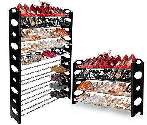 Shoe Rack for 50 Pair Wall Bench Shelf Closet Organizer Storage Box Stand
