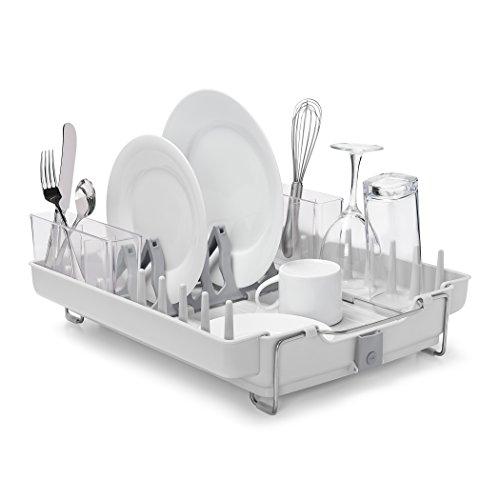 OXO Good Grips Convertible Foldaway Dish Rack Stainless Steel
