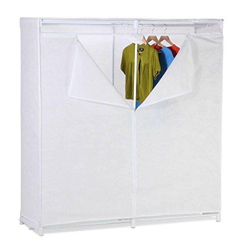 60 Lightweight Portable Garment Storage Closet in White