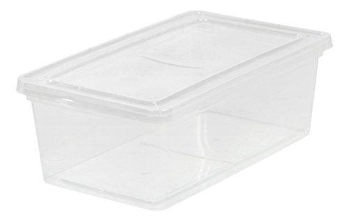 IRIS 6 Quart Clear Storage Box 18 Pack