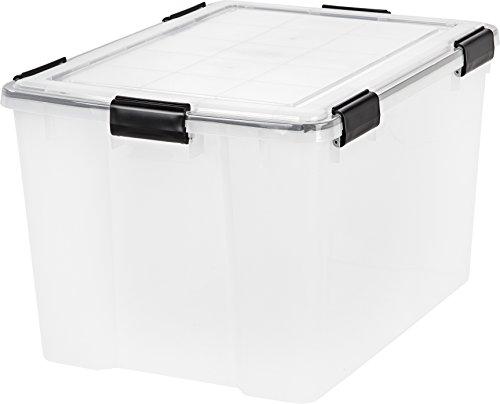 IRIS 74 Quart WEATHERTIGHT Storage Box Clear