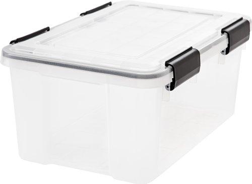 IRIS  Weathertight Storage Box 19 Quart - Clear