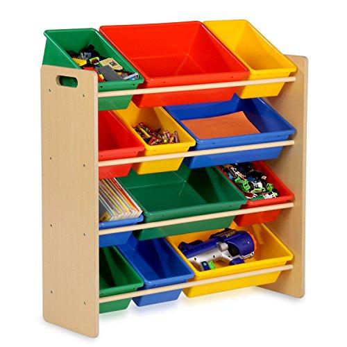 Honey-Can-Do Kids Toy Organizer and Storage Bins NaturalPrimary