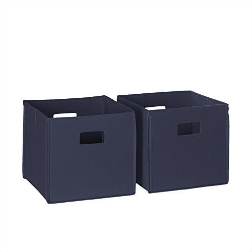 RiverRidge 02-057 2-Piece Folding Storage Bin Navy