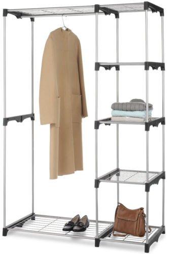 Balance World Inc Closet Organizer Storage Rack Portable Clothes Hanger Home Garment Shelf Rod G68