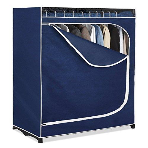 Generic LQ8LQ3344LQ nger Cl Hanger Clothes anizer Rack Storage Por Portable Wardrobe e Wardr Closet Organizer nt Shelf Ro Garment Shelf Rod US6-LQ-16Apr15-2041