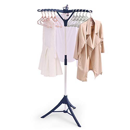 SN Floor Drying Rack Folding Coat Towel Clothes Hangers Stand Hat Garment Shelf Multifunction Home Office Household Hallway Indoor