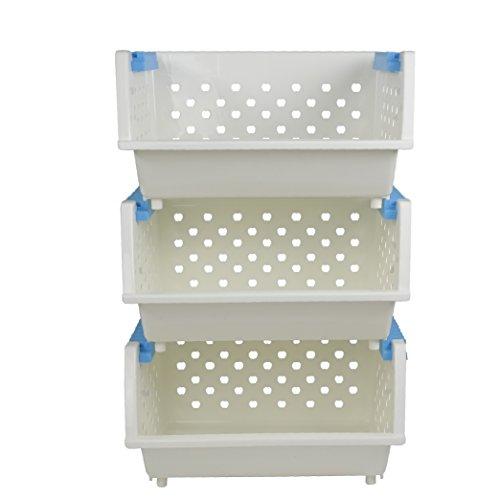Ave 3-Self Kitchen Stackable Storage Bins