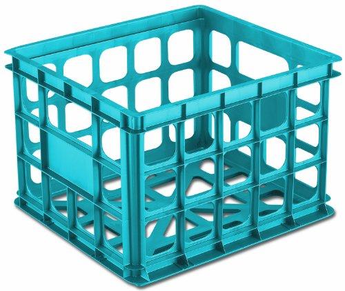 Sterilite 16924306 Storage Crate Blue Aquarium 6-Pack