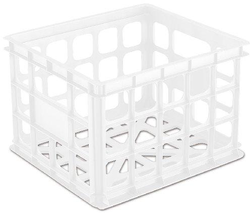 Sterilite 16928006 Storage Crate White 6-Pack
