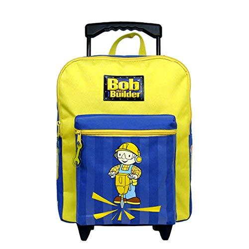 Bob the Builder Large Rolling Backpack  Kids Luggage