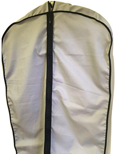 Breathable Cotton Cloth Fur Coat SuitDress Garment Bag 45 Grey Tuva Inc
