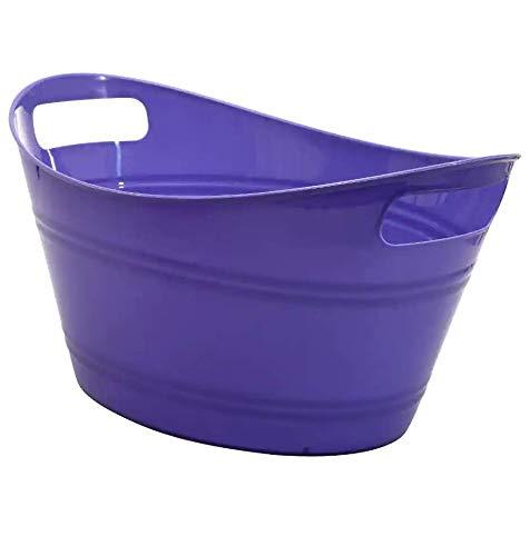 Plastic Storage Tub Top Rim 125 x 925 x 65 Tall Eggplant
