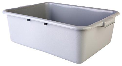Consolidated Plastics 67013 Tote Box Polyethylene Gray 21 L x 155 W x 7 D