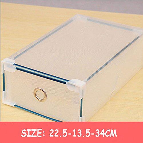 Foldable Plastic Shoe Boxes Organiser Drawer Stackable Storage Box Transparen 5 Pcs Man Transparent