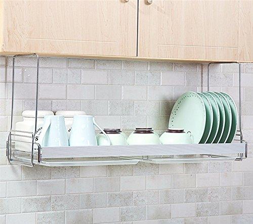 kitchen shelf Kitchen racks lzzfw wall mount bracket Siu Lek Yuen Water Bowl Rack Stainless Steel Hanging bowl tray admit rack