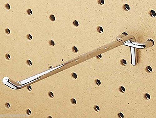 100 Pc Heavy Duty Steel 18 X 6`` Peg Board Hooks Shelf Hanger