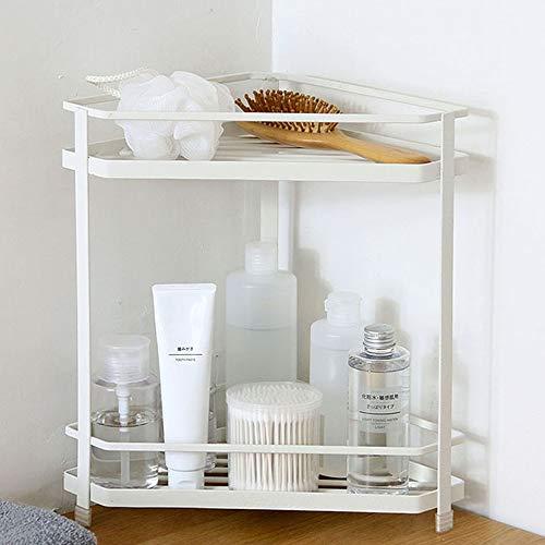 FuLov Bathroom Shelves Bathroom Corner Shelf 2Tier Large Capacity Metal Corner Shelf for Bathrooms Dressing Tables Kitchens