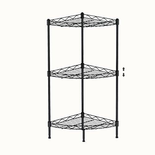 Kitchen Rack Bathroom Shelves Metal Corner Shelf Storage Rack Finishing Rack Bathroom Three-tier Frame Angle Bracket