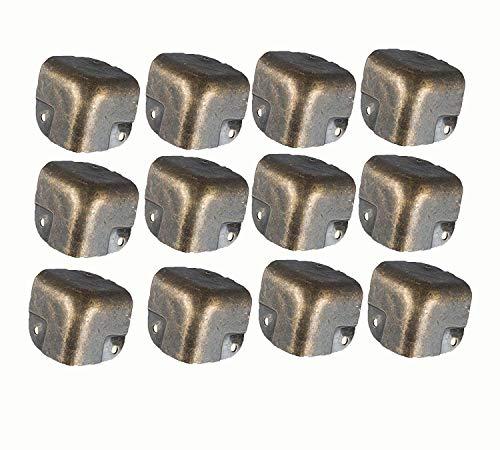 XMHF Metal Corner Protector Edge Safety Guard Angle Shelf Bracket Bronze Tone Pack of 12
