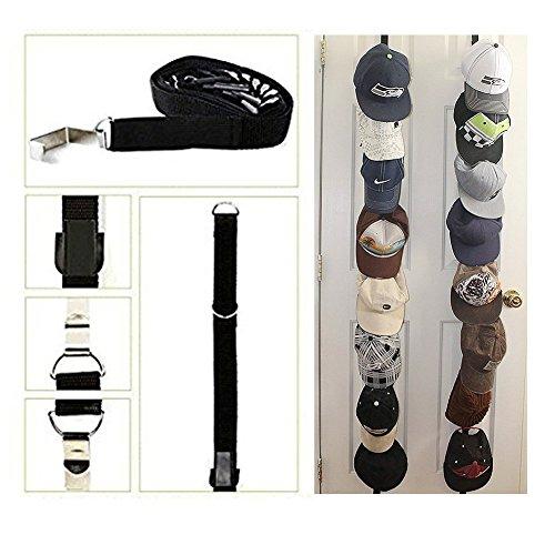 QG88 2PACK Nylon 16pcs Caps Hook Holder Hat Racks Caprack Baseball Cap Organizer