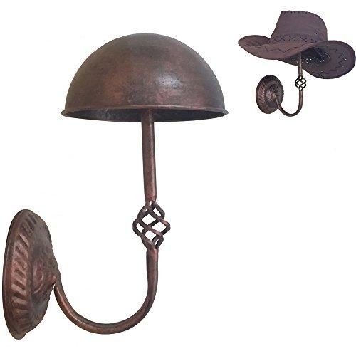 Queens Decorative Vintage Design Copper Metal Hat  Cap  Wig Hanger Entryway Display Rack Wall Mount