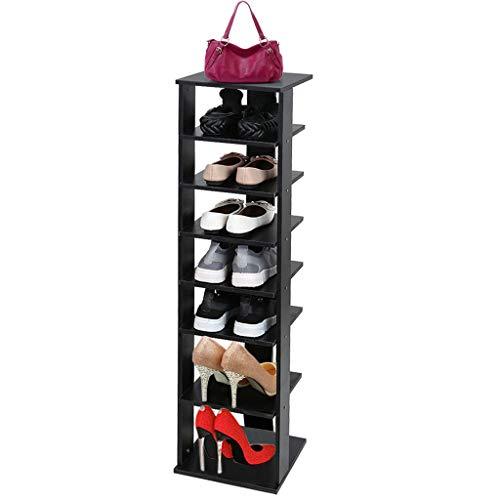 Alelife Wooden Shoes Racks Entryway Shoes Storage Stand 7 Tiers Shoe Shelf Organizer US Stocks 28x265x111cm Shoe Rack