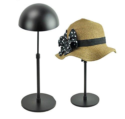 General Black Metal Adjustable Hat Cap Display Stand Rack