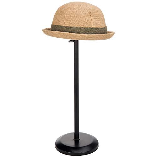 MyGift Black Metal Dome Shape Design Tabletop Adjustable Height Hat StandWig Display Rack