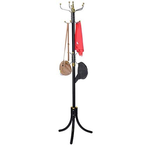 Pratcgoods Coat Racks Free Standing Clothes Bag Shelf Jacke Tree Hanger Purse Holder Hanger entryway Metal Hooks Rack hat Stand Racks