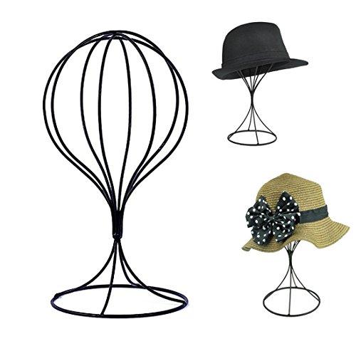 Queens Freestanding Wire Ball Hat Stand Metal Hat Rack Wig Holder Storage Display Stand