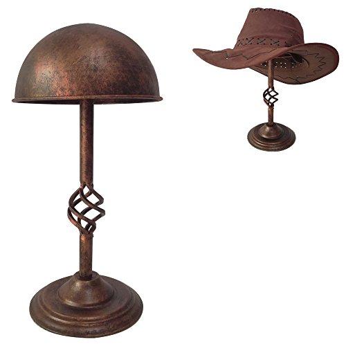 Queens Vintage Design Copper Metal Cap Hat Rack Cowboy Hat Stand Holder Wig Entryway Display Rack Free Standing