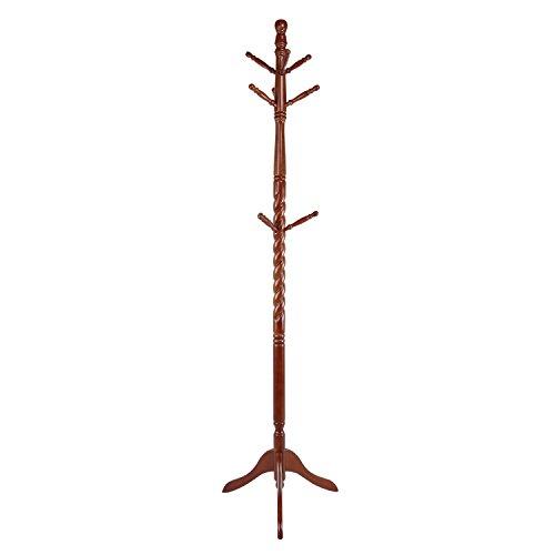 Lifewit Wood Coat Rack Hall TreeEntryway Standing Hat Jacket Coat Hanger Rack with 9 Hooks