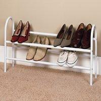 ClosetMaid 8037 Expandable Shoe Rack White