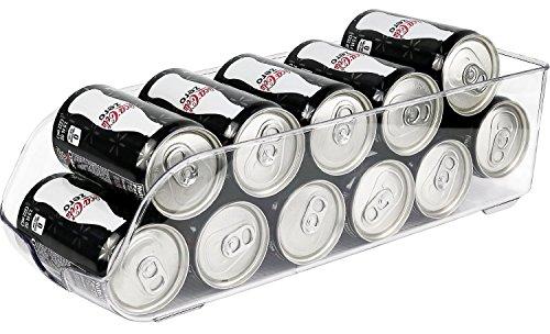 Greenco Refrigerator and Freezer Drink Holder Storage Bin 135x 55x 375 Clear