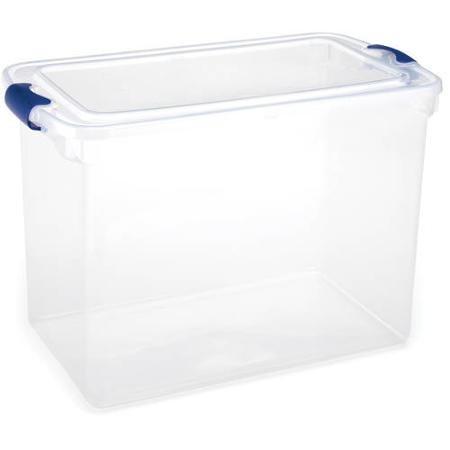 Homz 18 Large Clear Storage Bin Set of 6