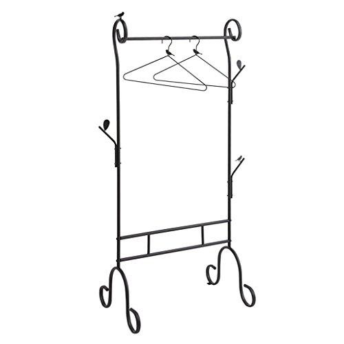 DGF Iron Coat Rack Bedroom Garment Rack Simple Costume Shop Hanger Creative Floor Clothes Clothes Rack