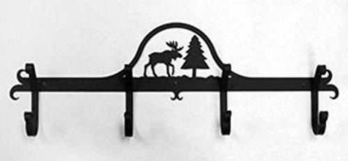 Iron Coat Rack Bar Moose - Black Metal