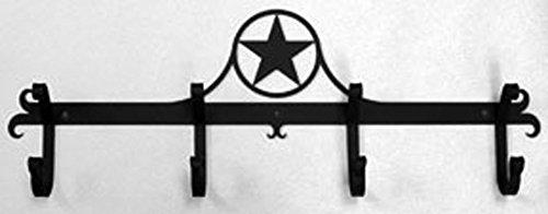 Iron Coat Rack Bar Rodeo Star - Black Metal