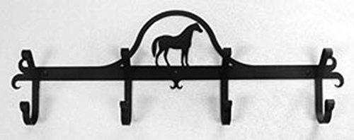 Iron Coat Rack-Towel Rack Bar Horse - 24 Heavy Duty Metal Coat Hooks - Hat Rack Coat Rail Or Garmet Rack