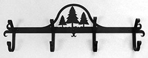 Iron Coat Rack-Towel Rack Bar Trees - 24 Heavy Duty Metal Coat Hooks - Hat Rack Coat Rail Or Garmet Rack