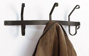 Wall Mount 3-Hook Iron Coat Rack
