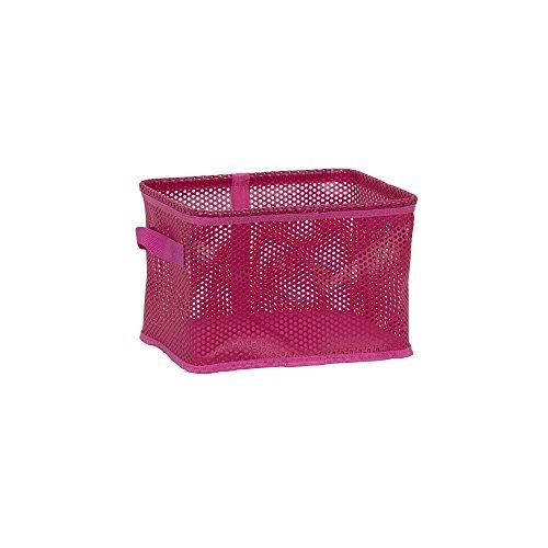 Household Essentials EVA Mesh Small Storage Basket Tote  Pink Bin