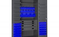 Durham-3501524RDR-5295-Lockable-Cabinet-with-52-Blue-Hook-On-Bins-1-Adjustable-Shelf-Flush-Door-Style-1-Fixed-Shelf-4-Drawers-12-Door-Shelves-36-Wide-14-Gauge-Gray-34.jpg