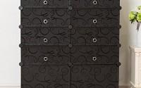 Unicoo-Multi-Use-DIY-Plastic-10-Cube-Shoe-Rack-Organizer-Bookcase-Shoes-Cabinet-2×5-Black-with-Black-Doors-0.jpg
