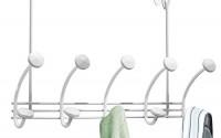 mDesign-Hex-Over-the-Door-10-Hook-Rack-for-Coats-Hats-Robes-Towels-White-9.jpg
